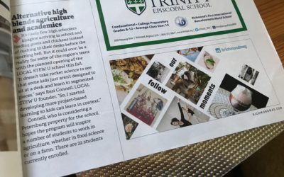"""Richmond Magazine – Private School Report: School News: """"Alternative High Blends Agriculture and Academics"""""""