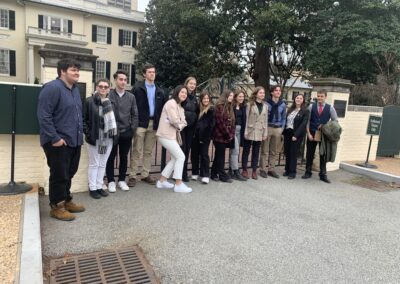LSUHS Students with AYA International Exchange Students on the VA State Capitol