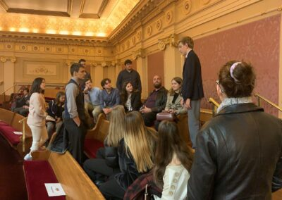 LSUHS Students with AYA International Exchange Students at the VA State Capitol