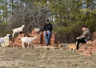 LSUHS students hanging with the goats