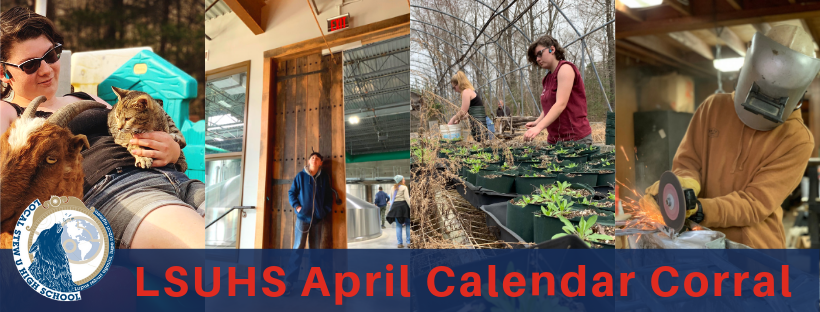 LSUHS Calendar Corral: April 2019
