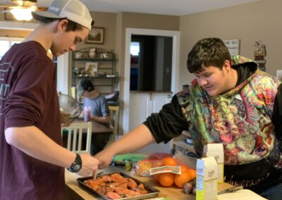 LSUHS students in culinary class