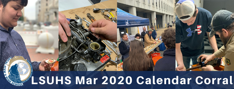 LSUHS Calendar Corral: March 2020
